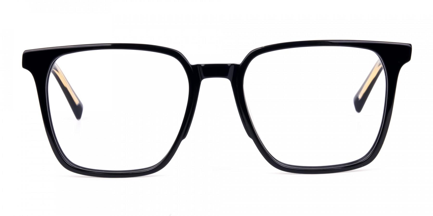 Square Black Eyeglasses-1