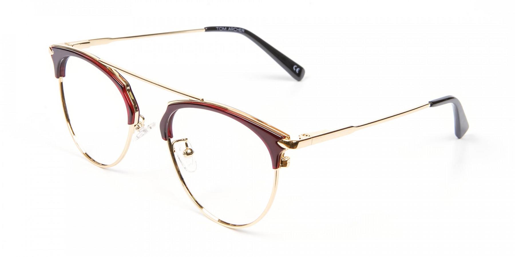 Unique Style Brown Glasses - 1