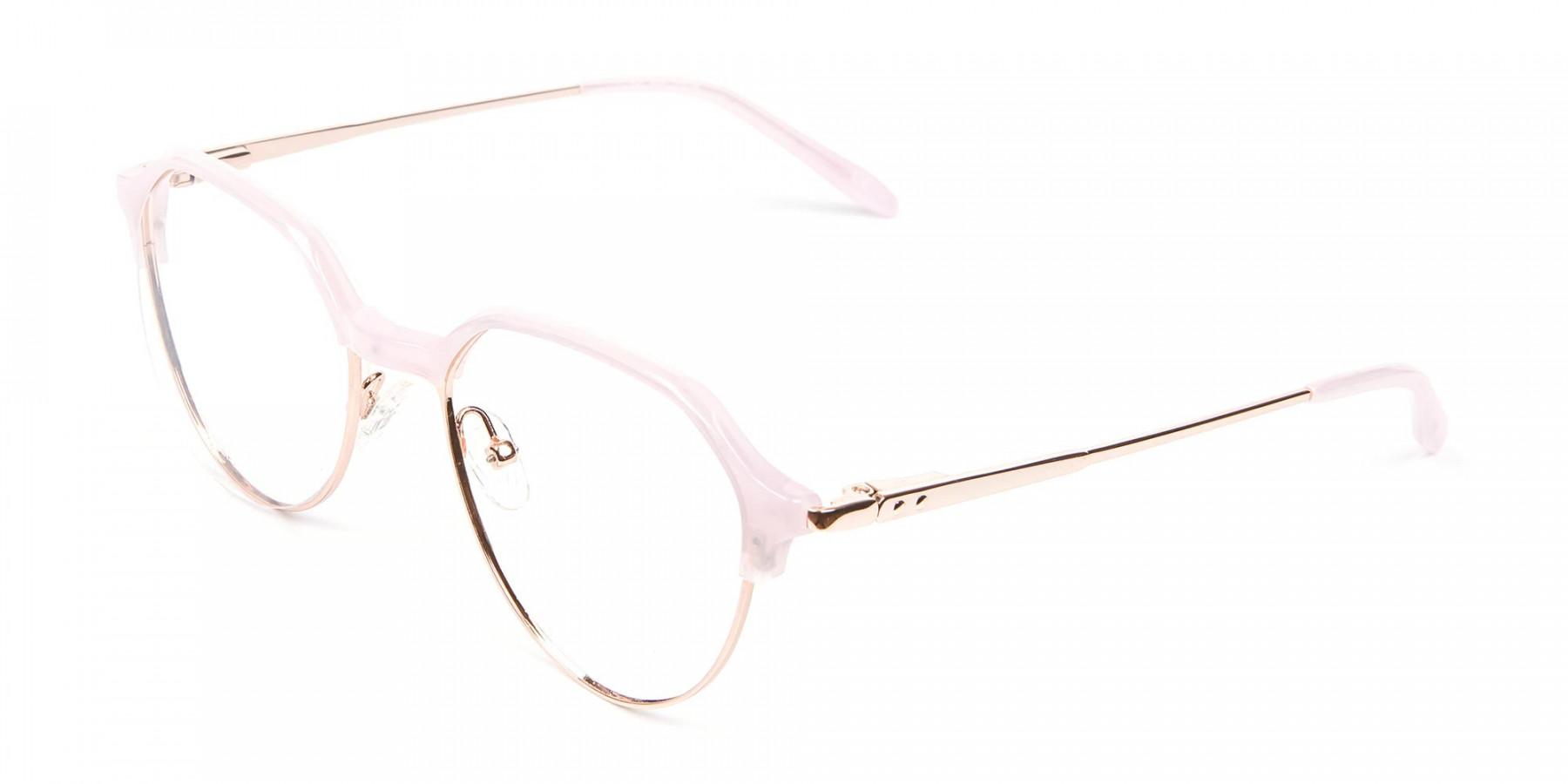 Fantasy Rosy Octagonal Glasses - 1