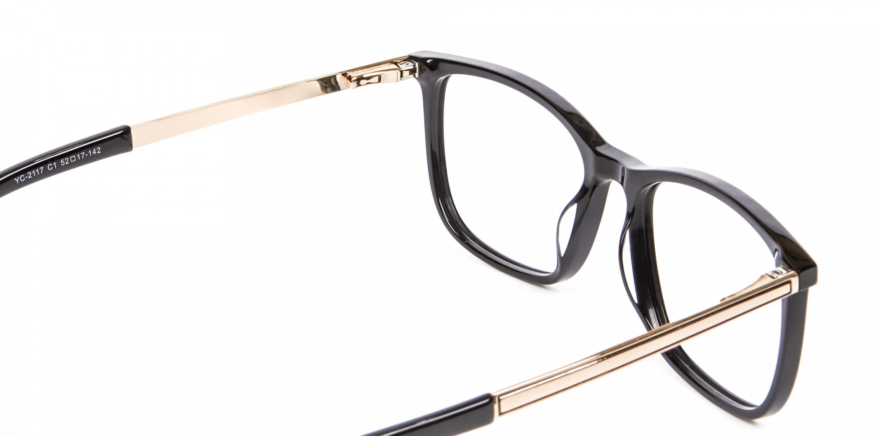 Black and Gold Multi-Material Frame in Wayfarer- 1