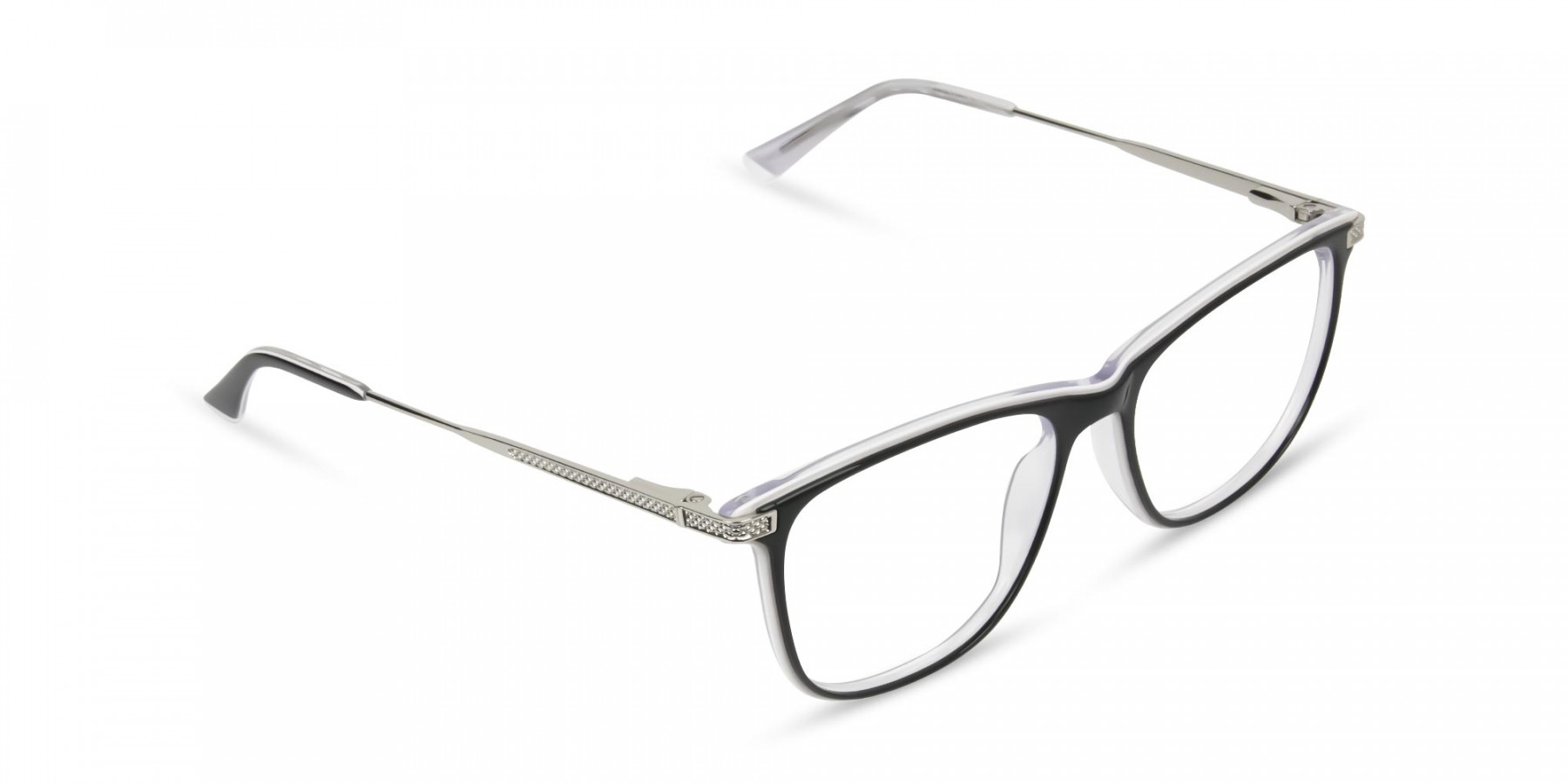 Black-and-White-Rectangular-Wayfarer-Glasses - 1