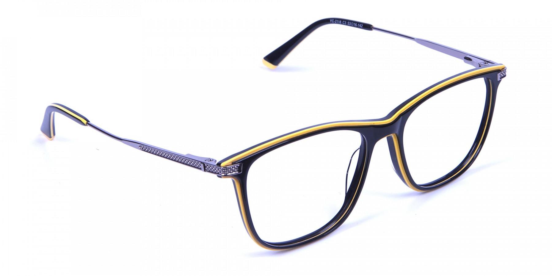 Black & Yellow Rimmed Frames