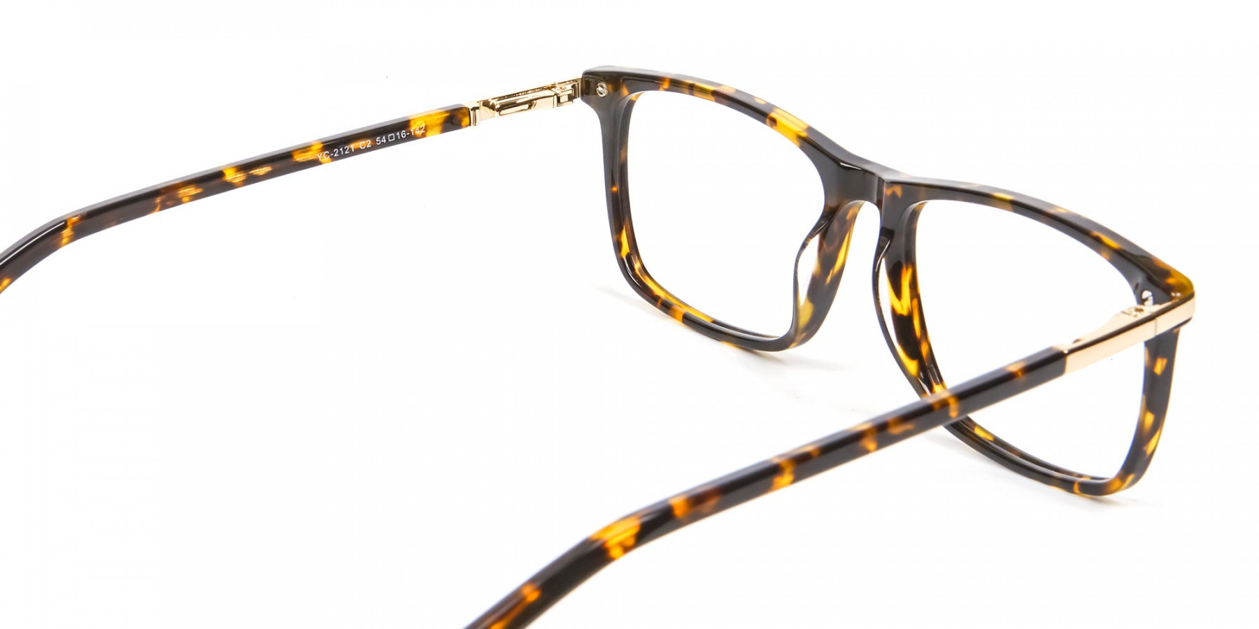 Tortoiseshell Glasses with Gold Hinge - 1