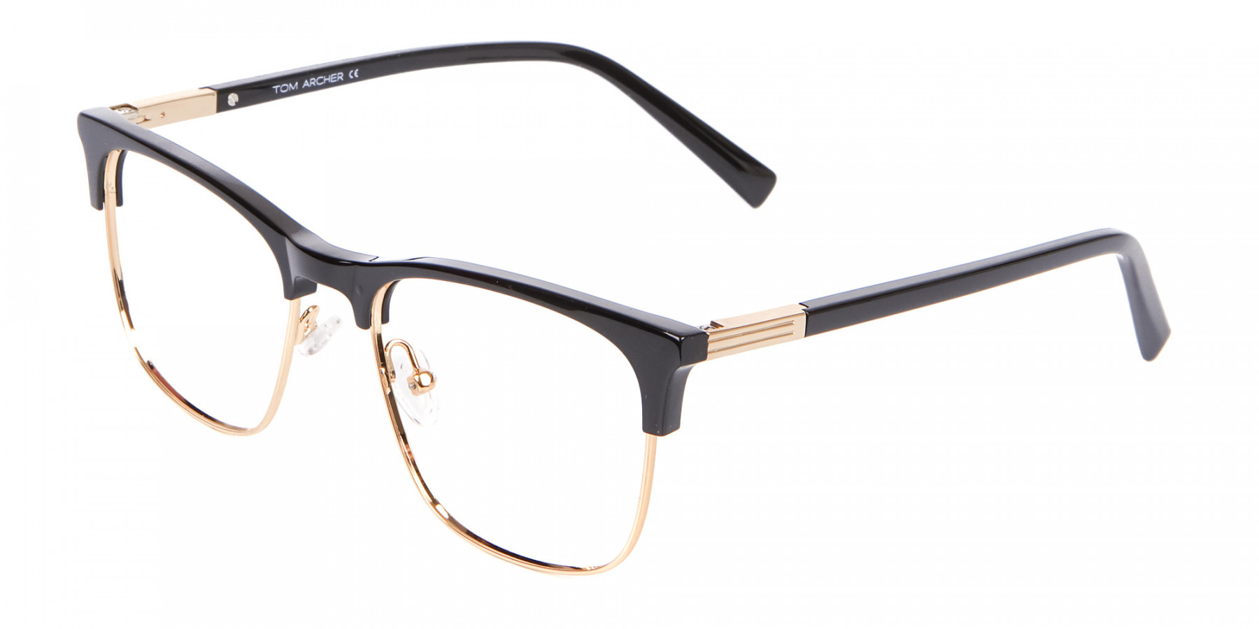 Retro Black & Gold Browline Free Delivery - 1