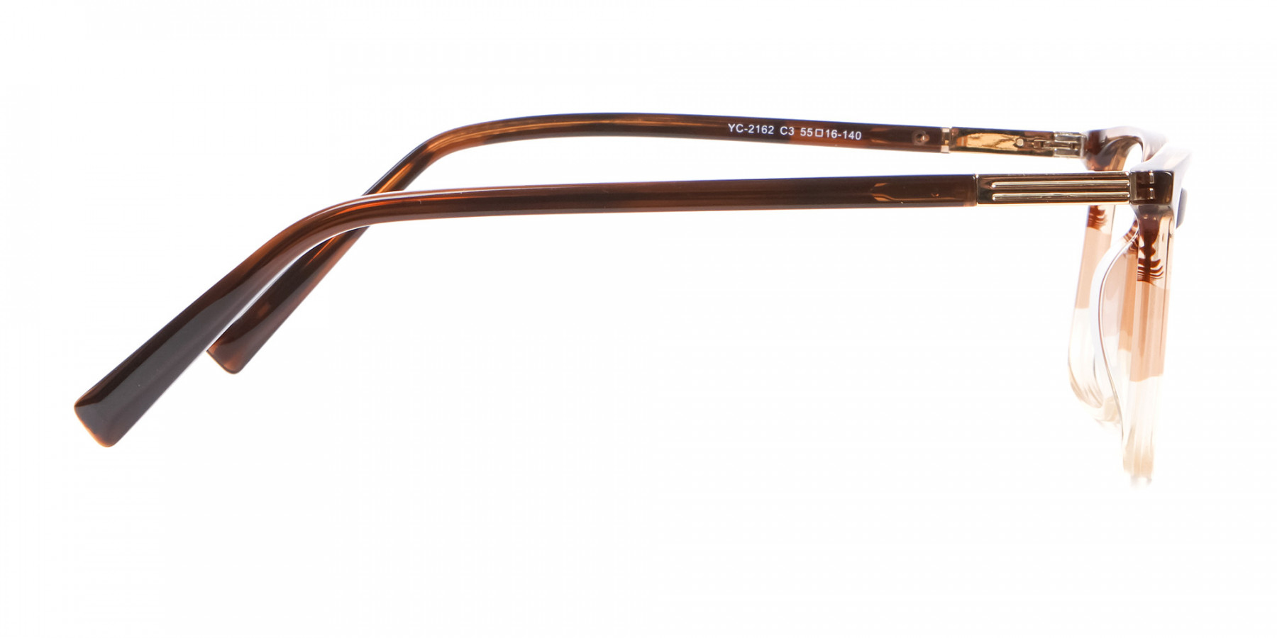 Mixed Material Textured Brown Frame in Rectangle - 1
