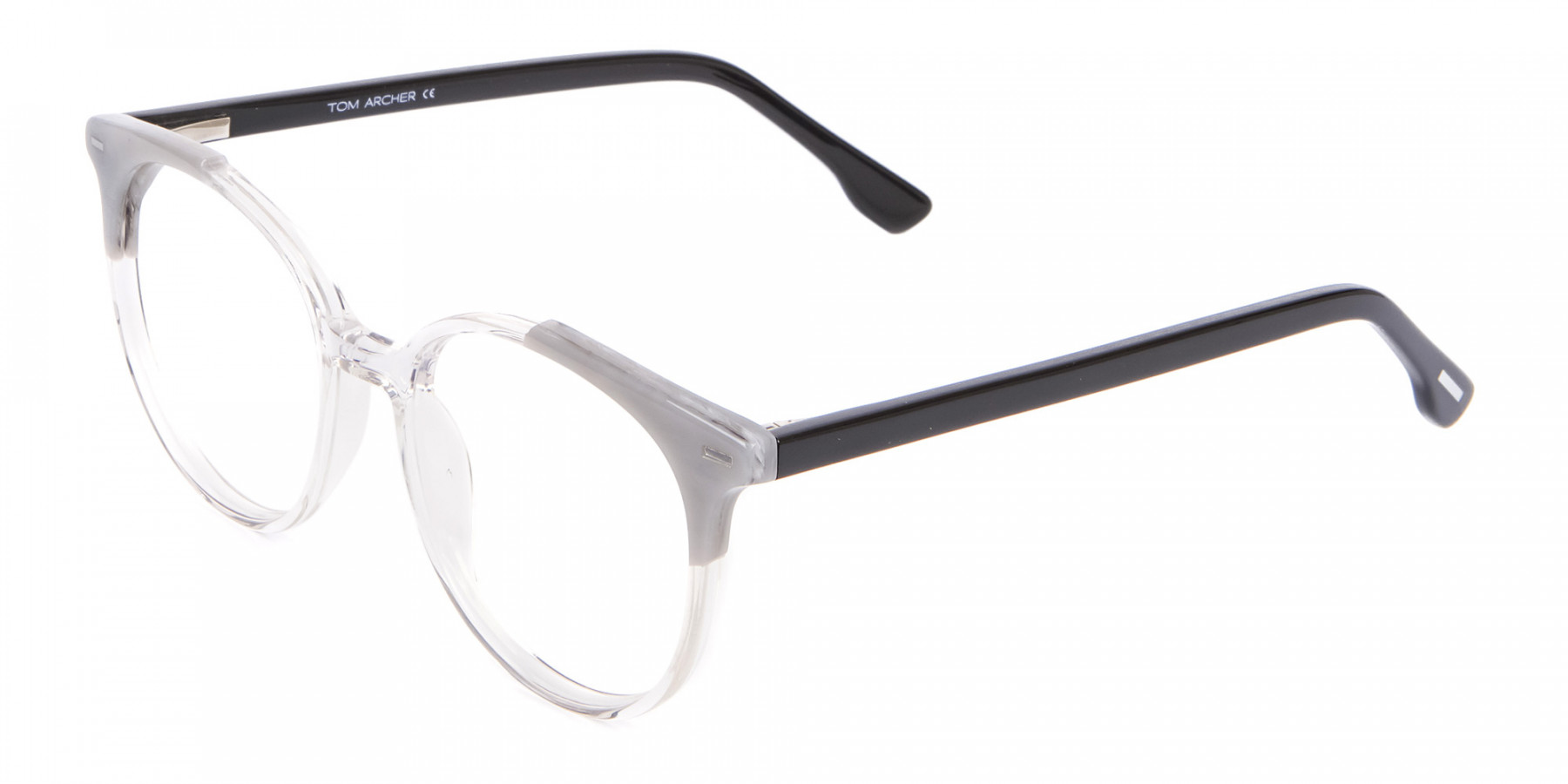 Smart Round Glasses in Trendy Clear Style - 1