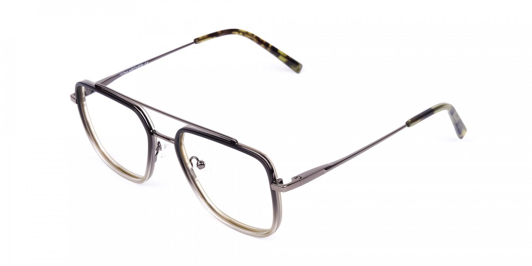 Dark-Green-and-Silver-Aviator-Glasses-1