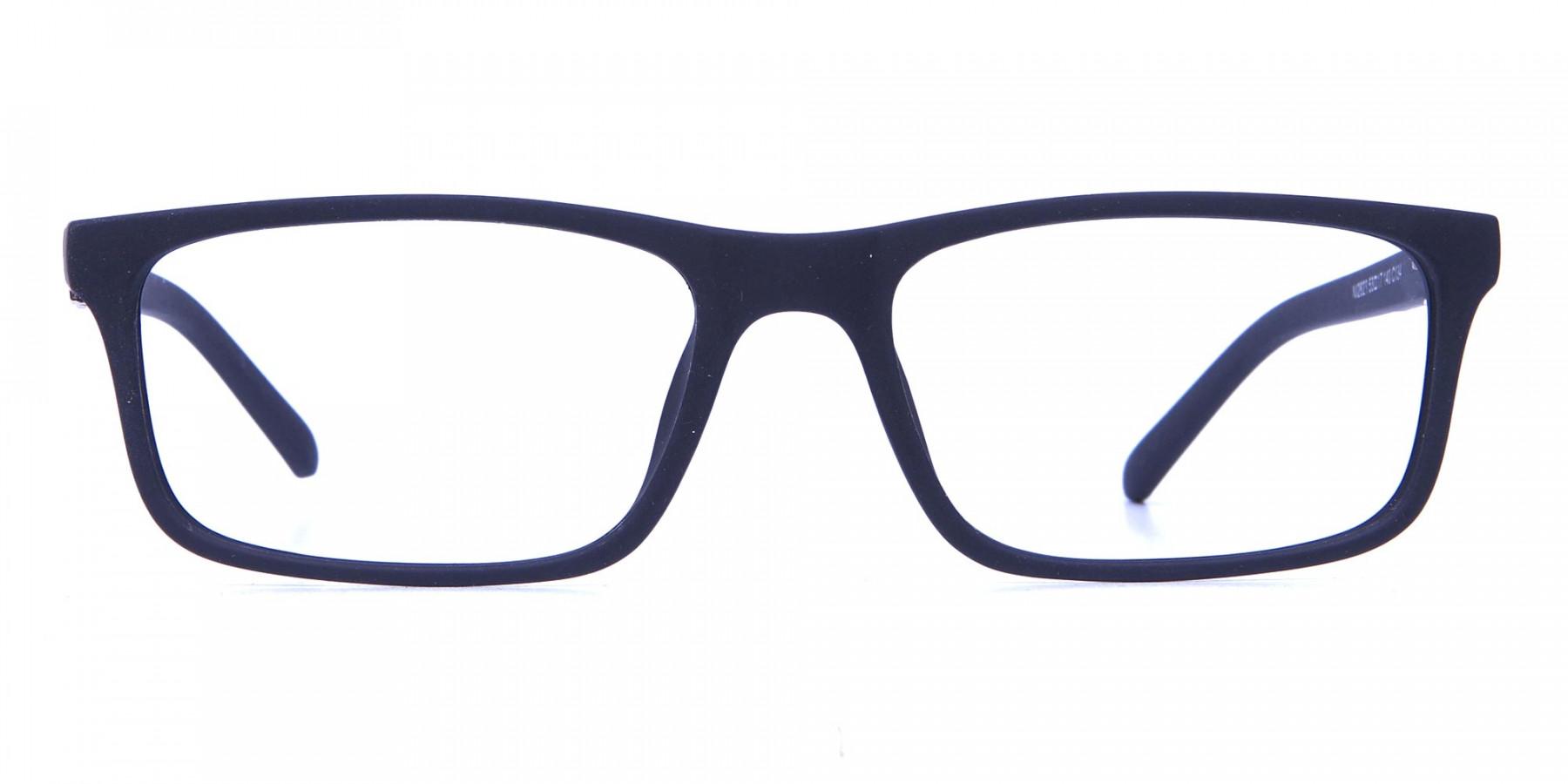 black Wayfarer eyeglasses