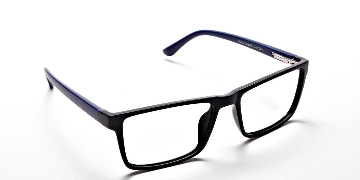 Black & Blue Glasses