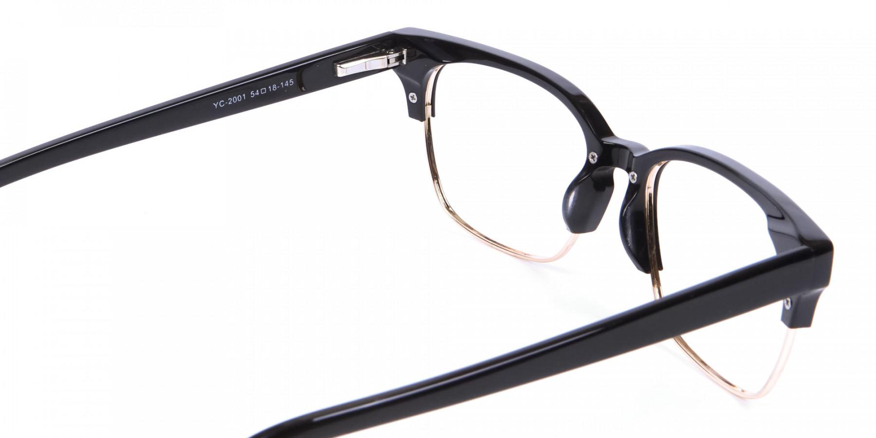 Black & Gold Browline Frames