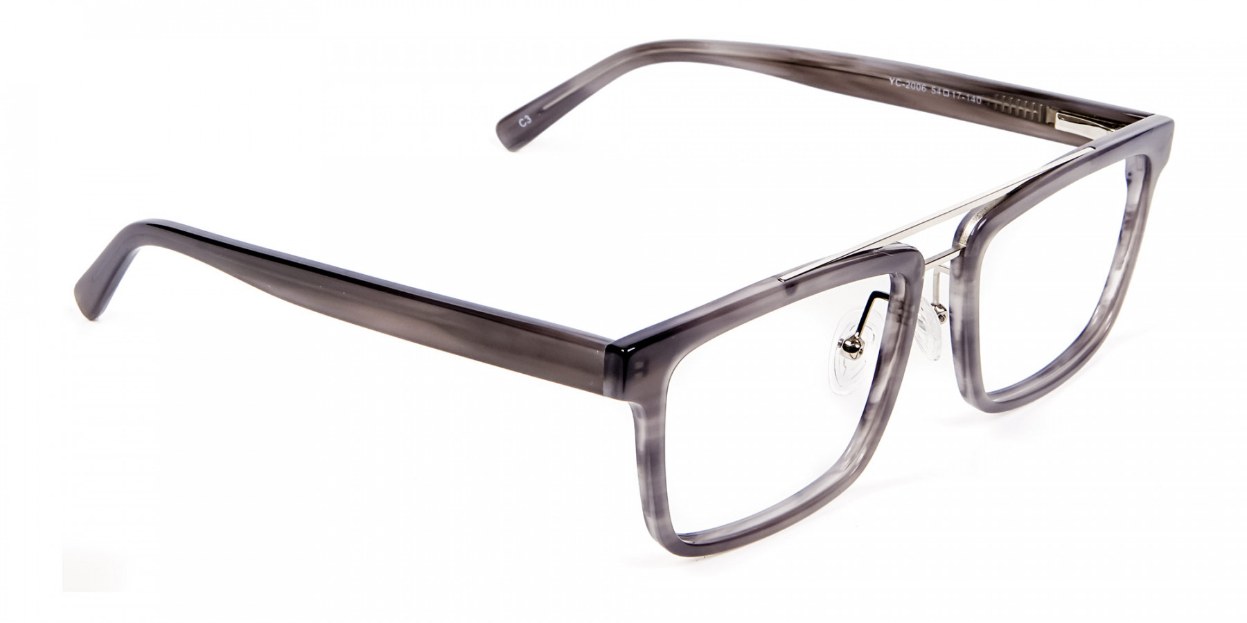Smudge Lined Grey Glasses