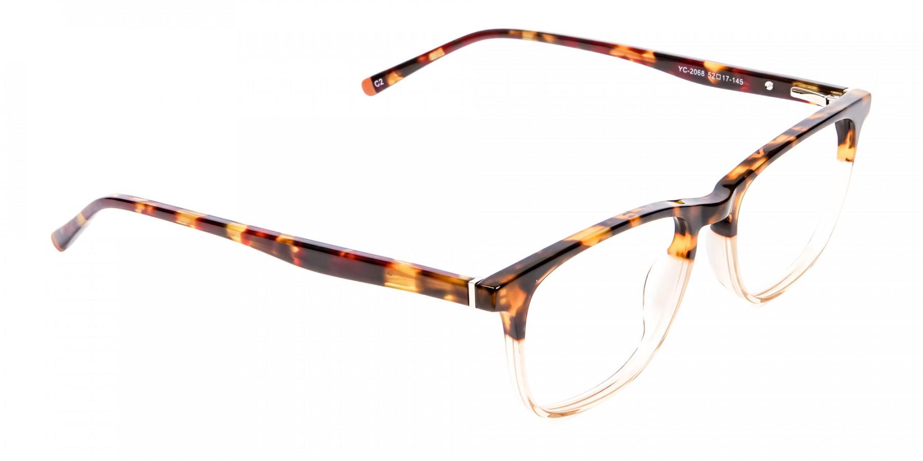 Tortoiseshell Dual-Toned Designer Glasses - 1