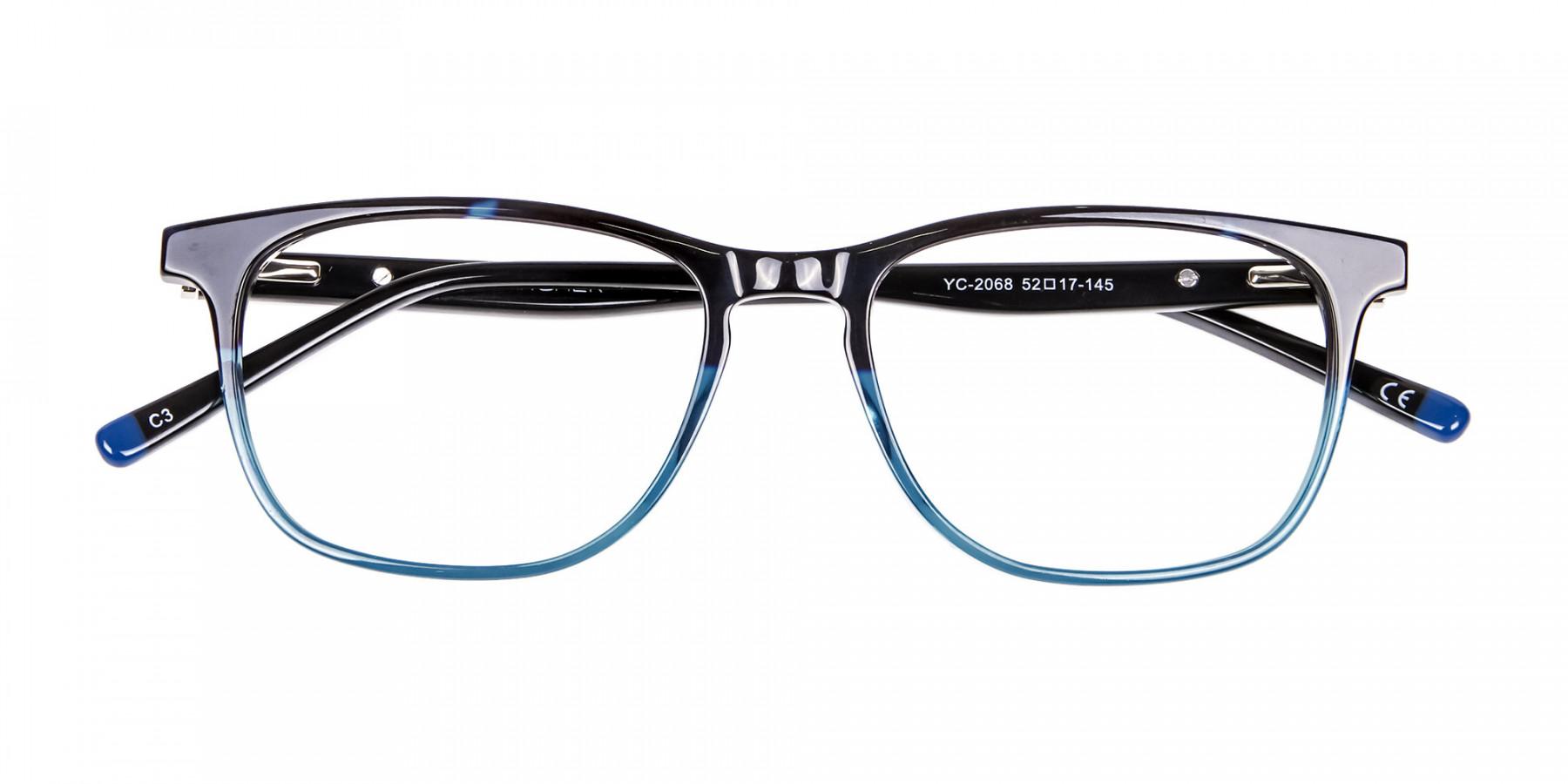 Colour Mixed Nerd Look Rectangular Glasses - 1