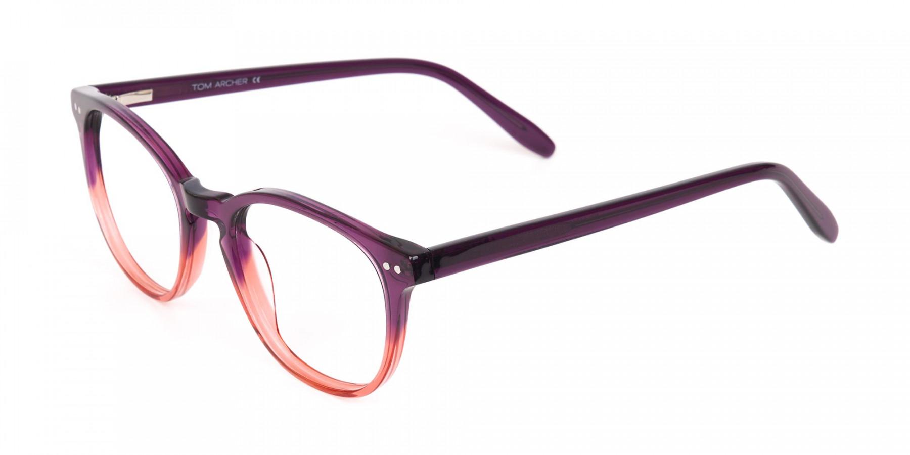 Purple & Tangerine Orange Two-Tone Glasses-1