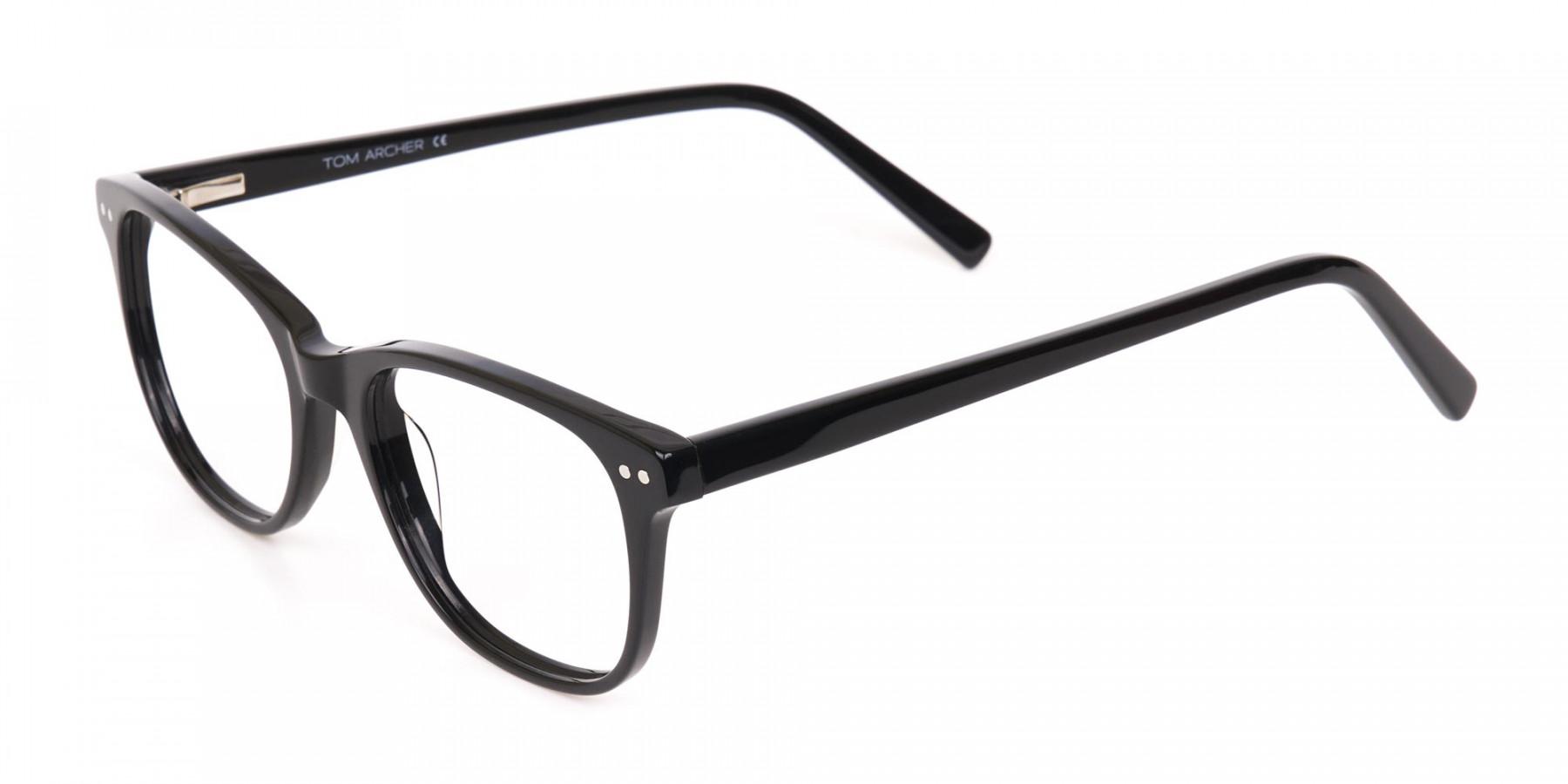Black Rectangle Eye Frame Unisex-1