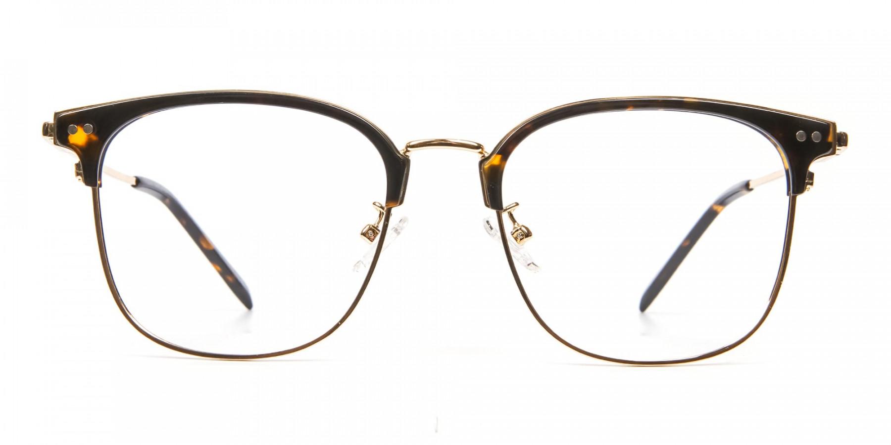 Square Tortoiseshell Browline Glasses