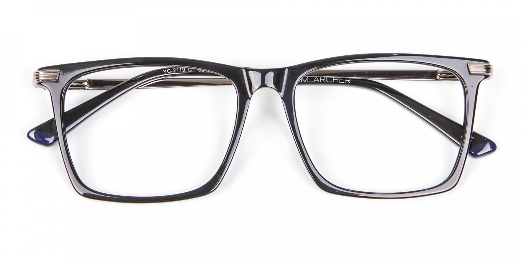 Bold black eyeglasses -1