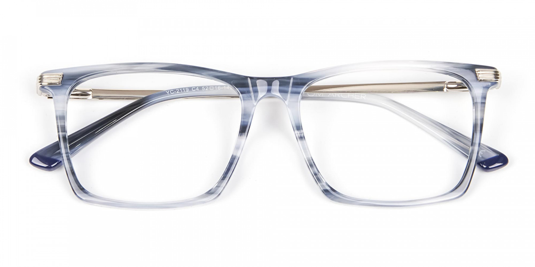 Silver Grey Colour Glasses Narrow Bridge- 1