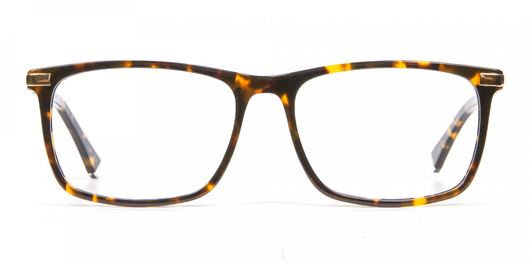 Tortoiseshell Glasses with Gold Hinge - 1