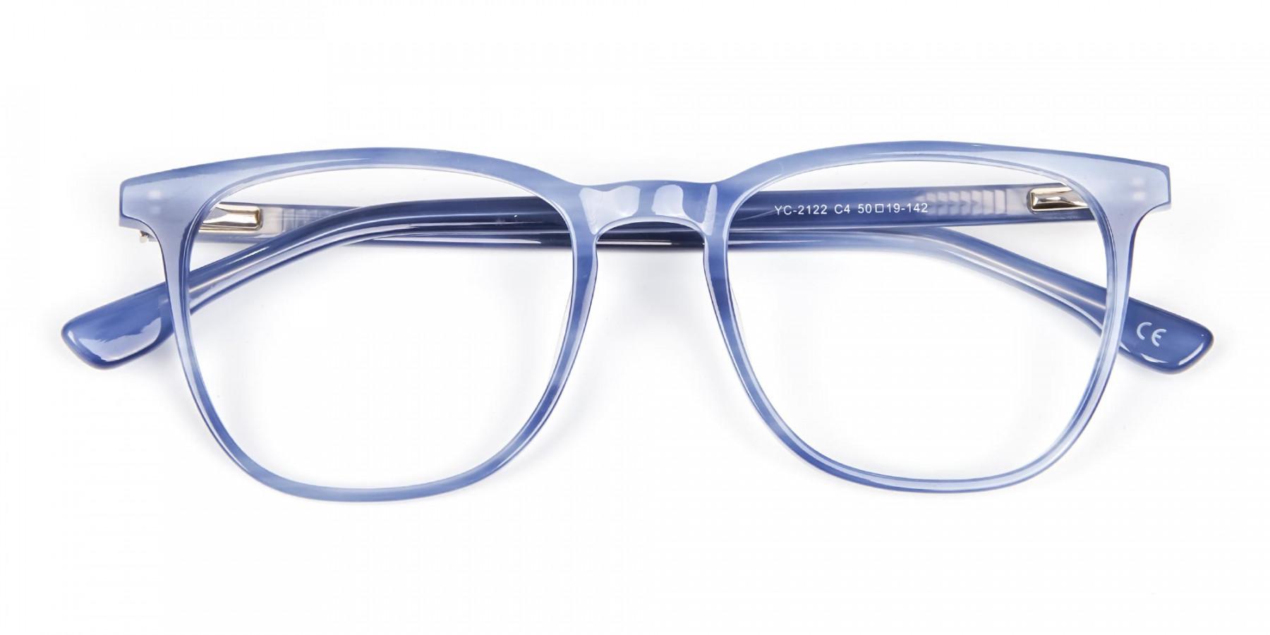 Fresh Blue Designer Glasses - 1
