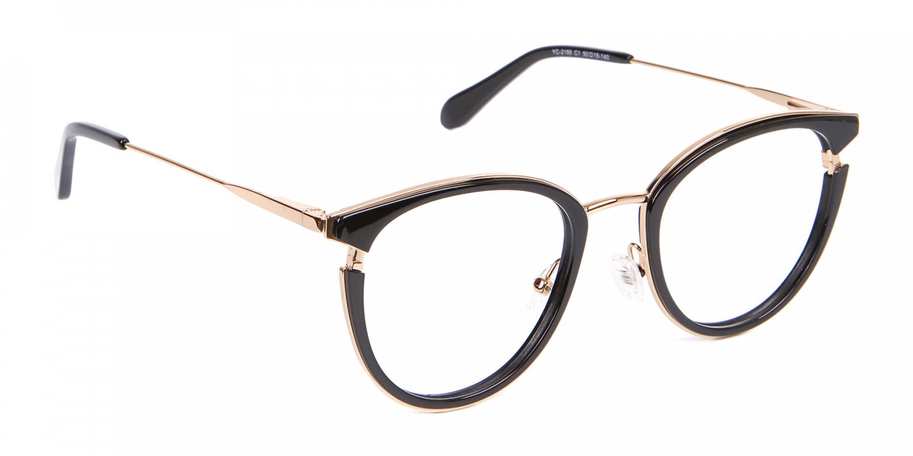 Black & Gold Round Frame Avant-Garde-1