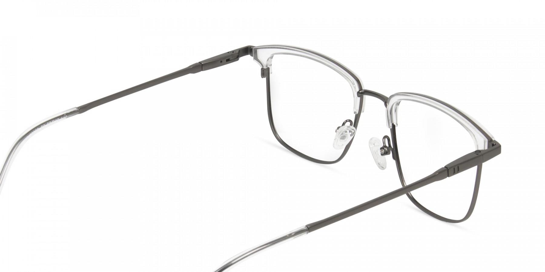 Transparent and Gunmetal Frames in Metal - 1