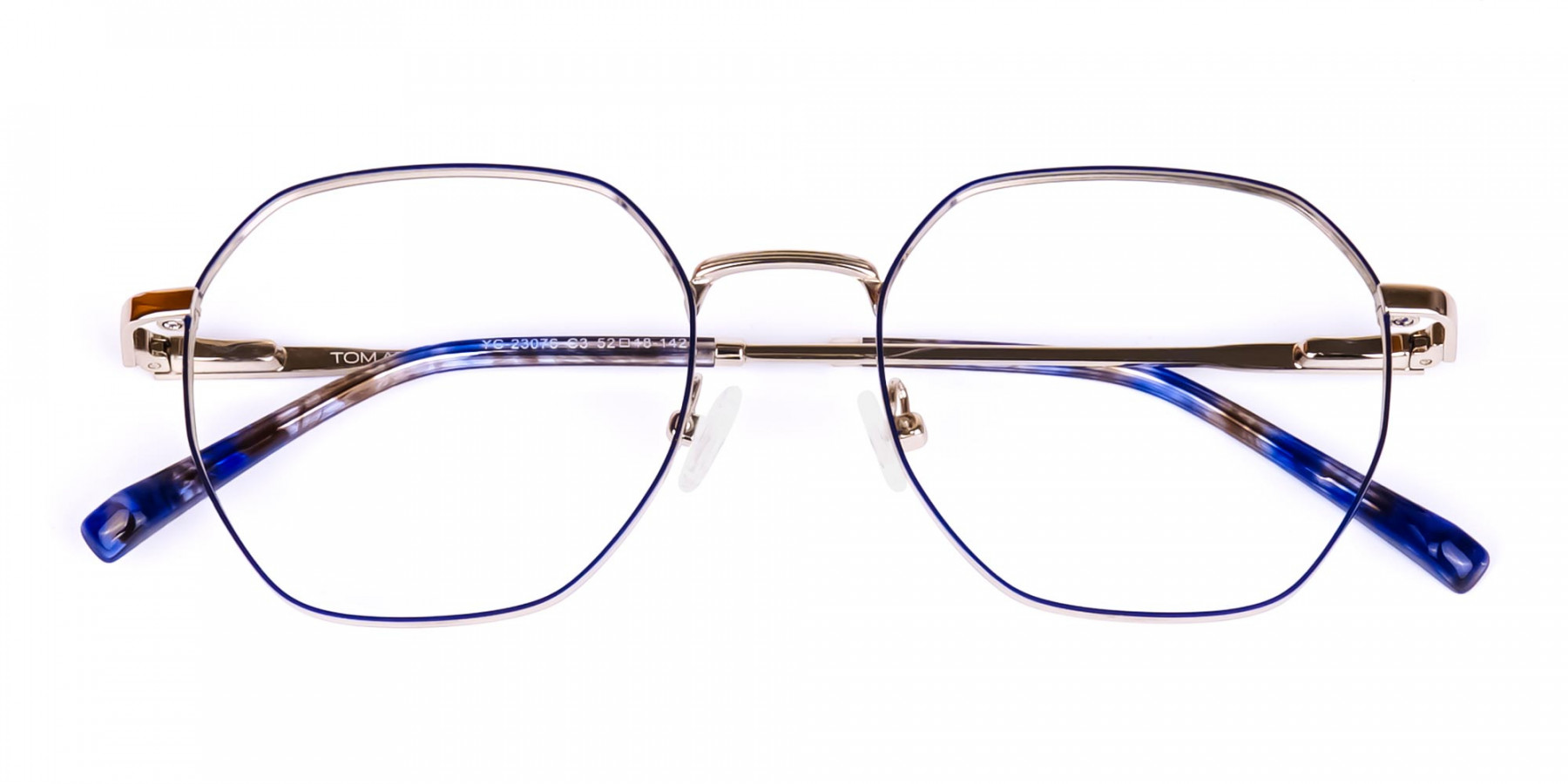 Navy-Blue-and-Silver-Geometric-Glasses-1