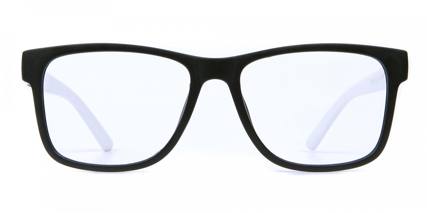 Black & White Frame Eyeglasses