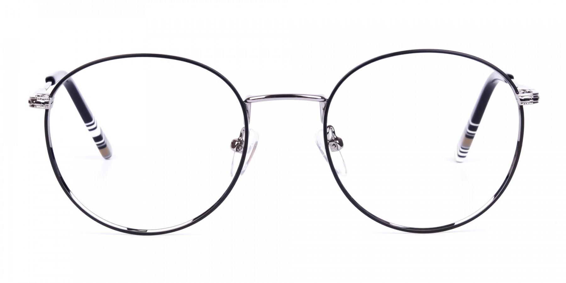 Black-Silver-Round-Full-Rim-Glasses-1