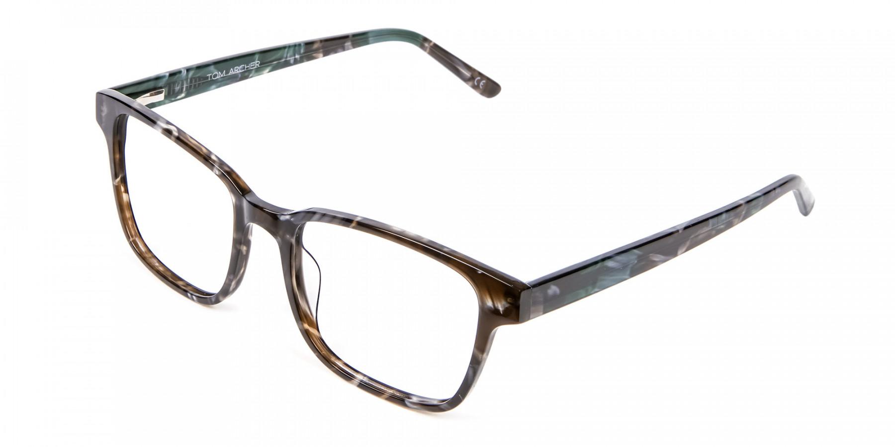 Brown Marble Rectangular Glasses