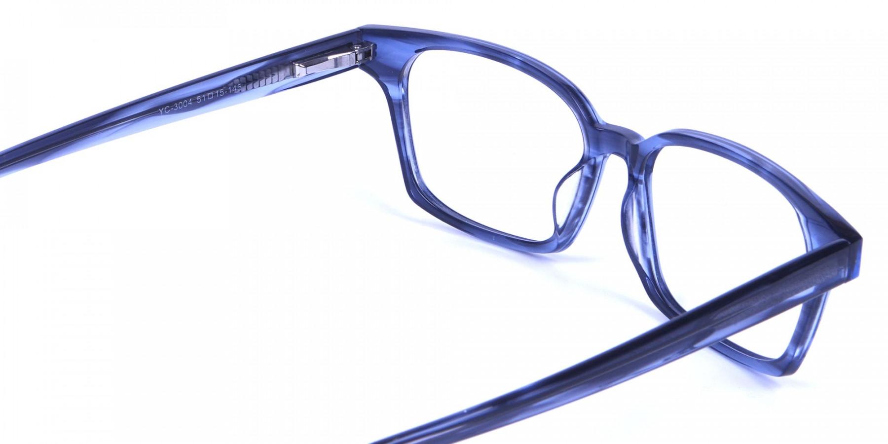 Marbled Grey Rectangular Glasses