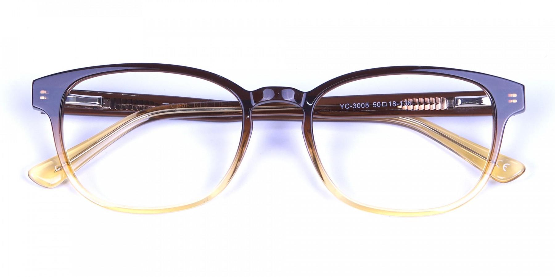 Brown Layered Glasses