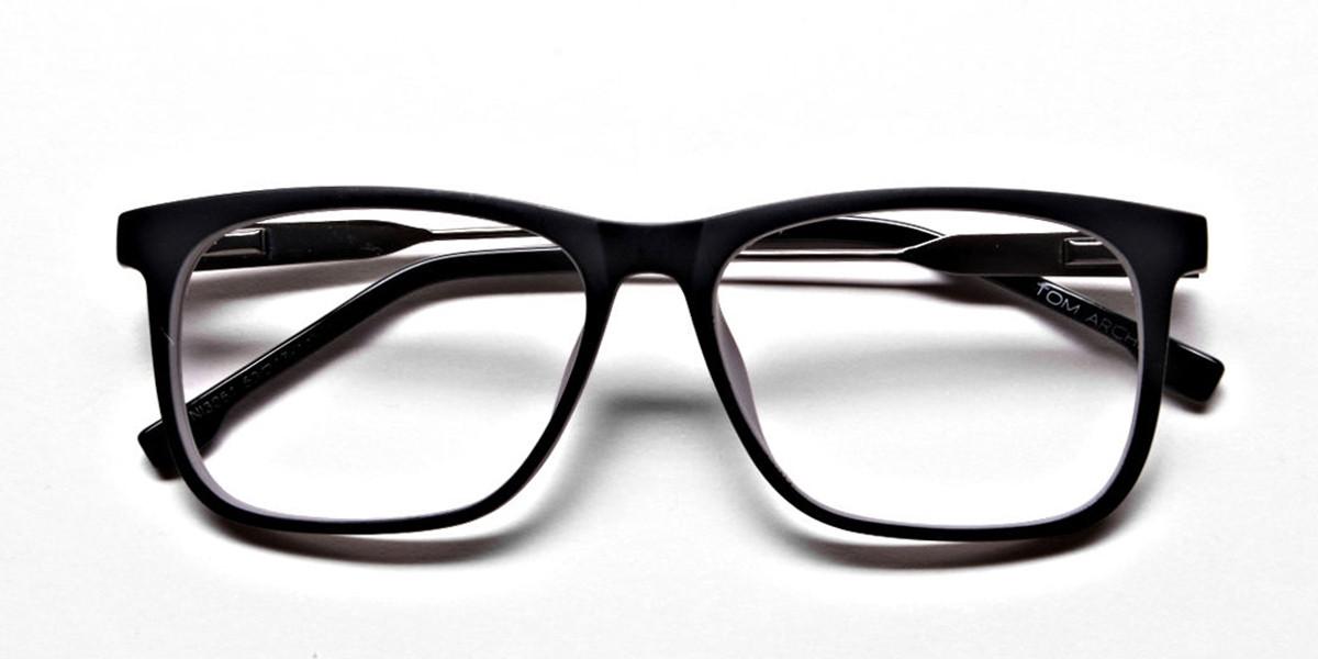 Wayfarer Black & Grey Detailed Glasses