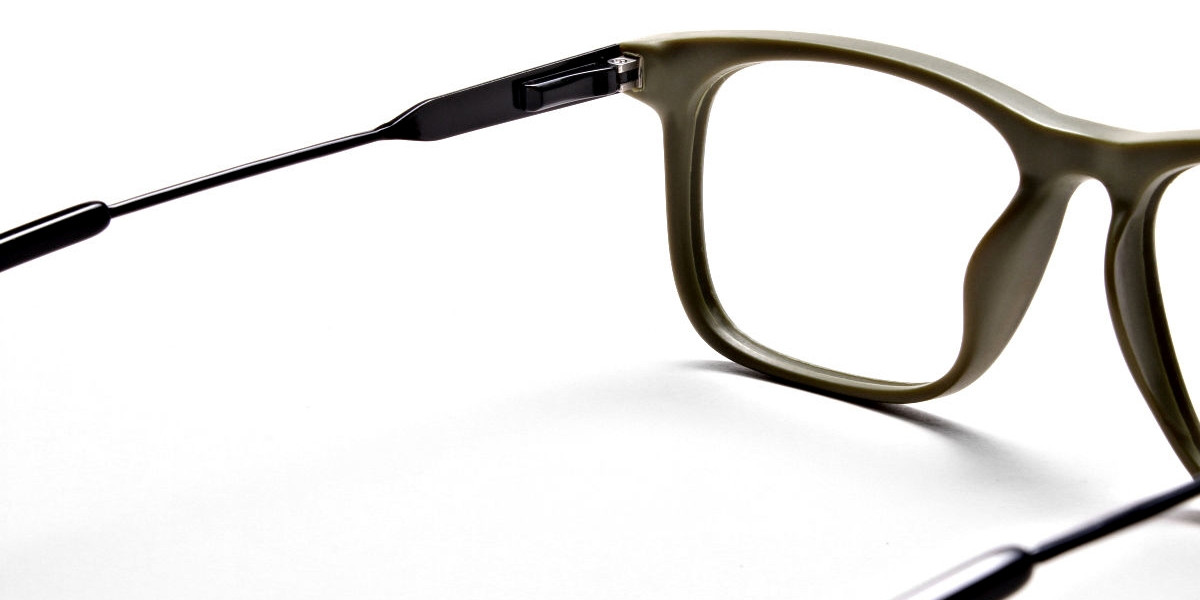 Green Rectangular Glasses for Men and Women