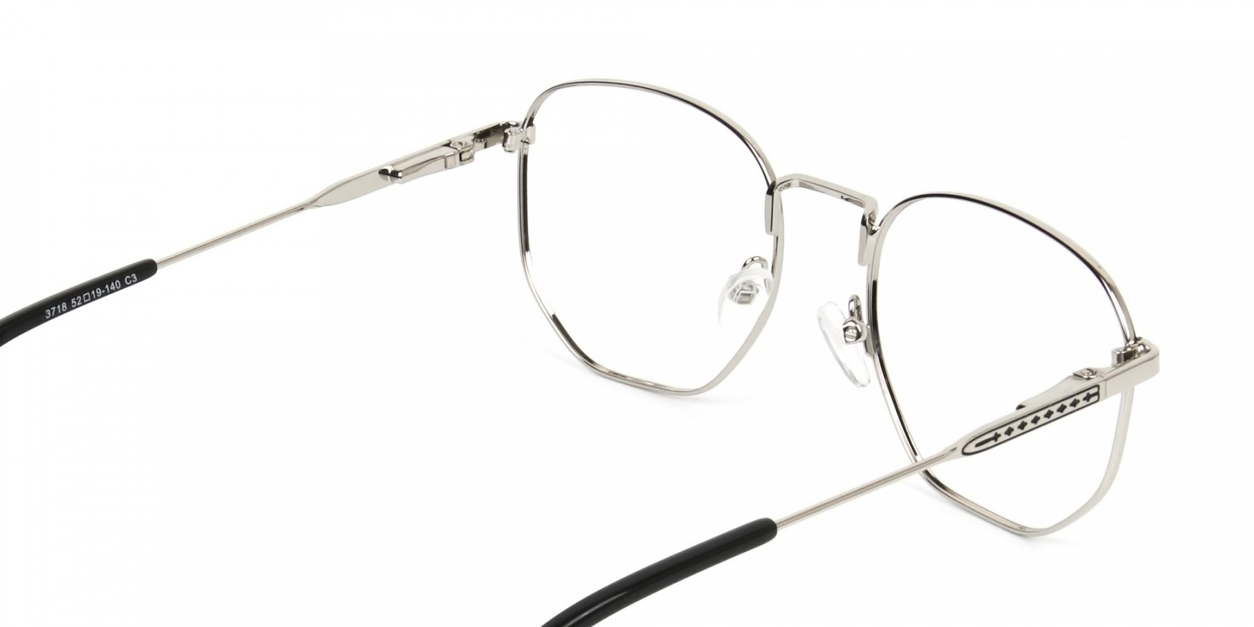 Geometric Black & Silver Spectacles - 1