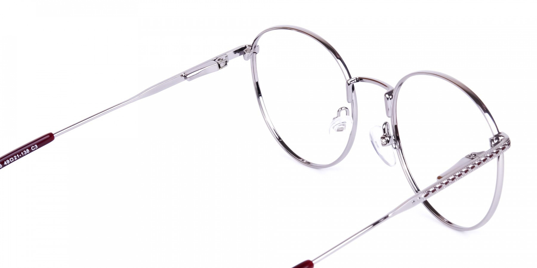 Burgundy-Silver-Round-Full-Rim-Glasses-1