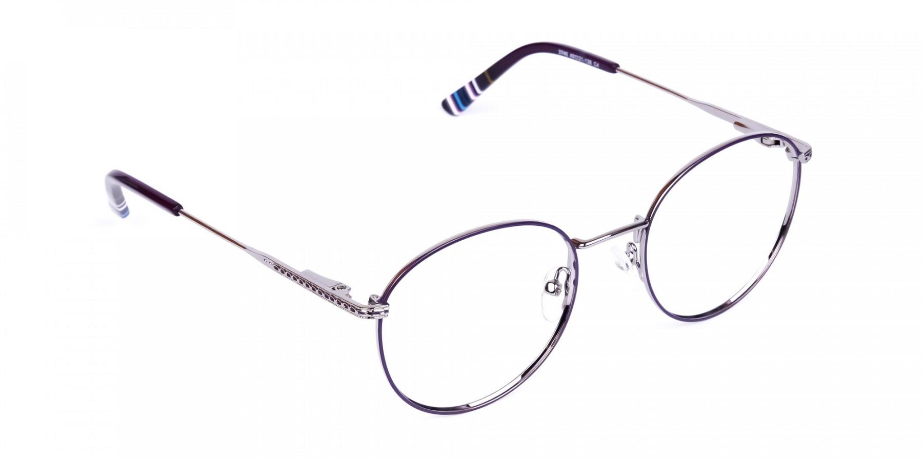 Navy-Blue-Silver-Round-Full-Rim-Glasses-1
