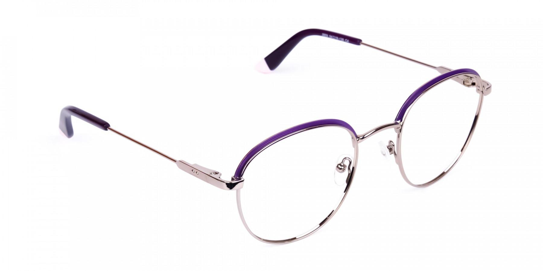 Dark-Purple-Silver-Round-Aviator-Glasses-1