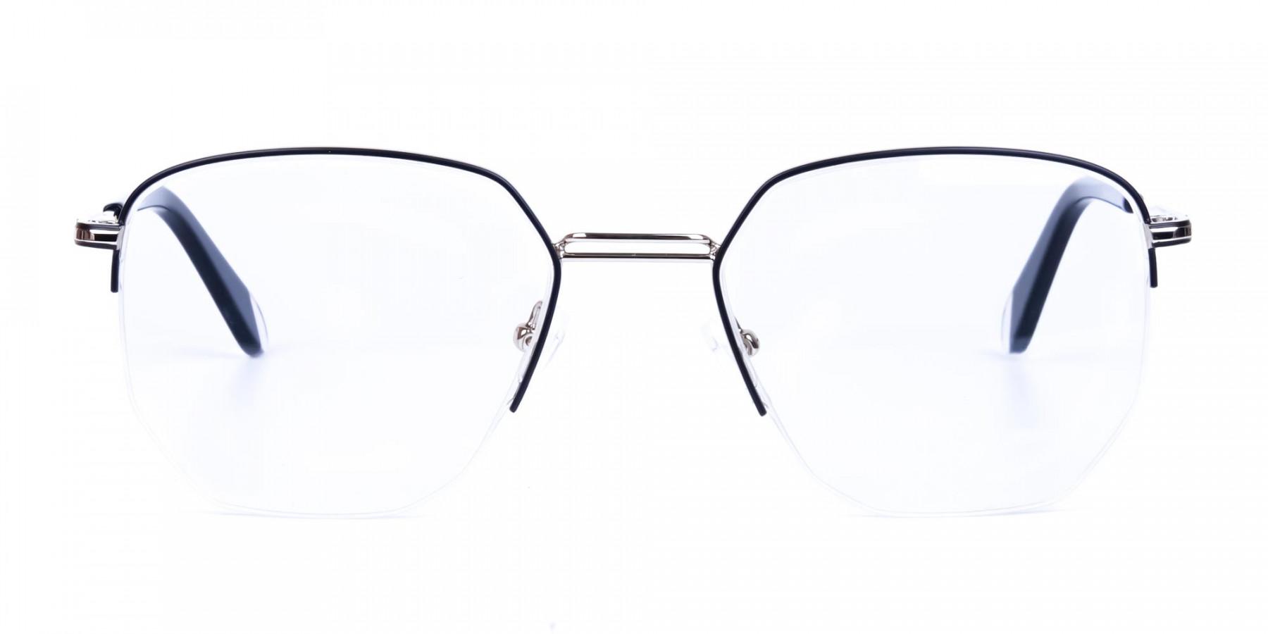 Black-Silver-Geometric-Aviator-Glasses-1