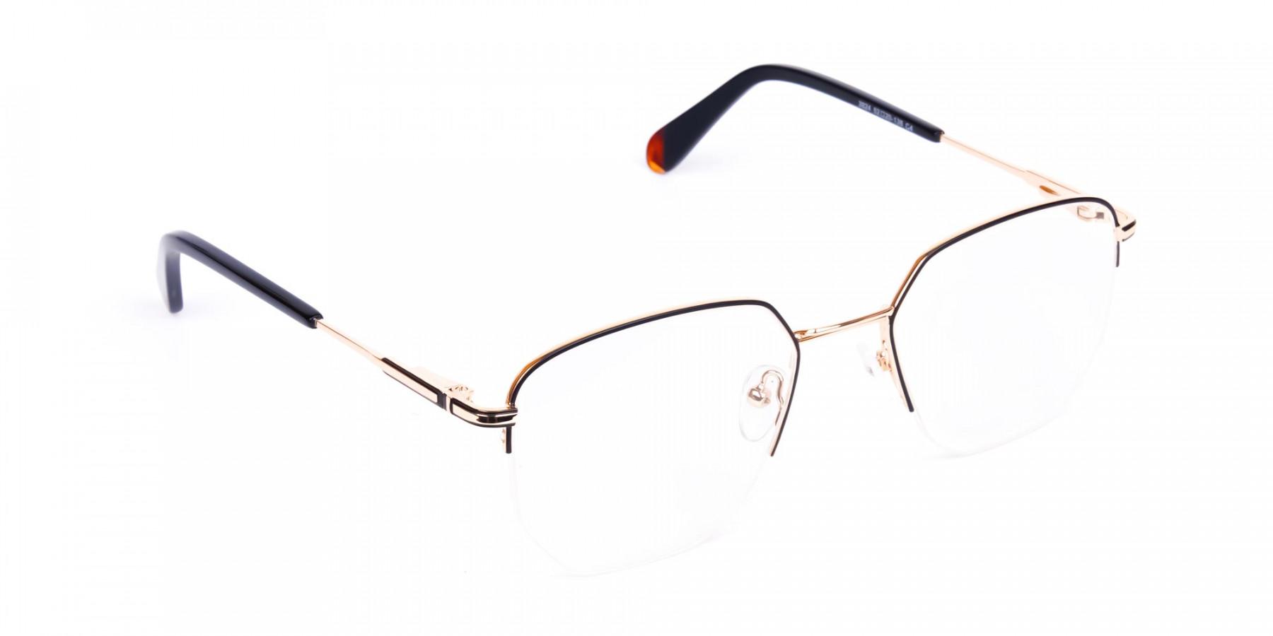 Black-Gold-Geometric-Aviator-Glasses-1
