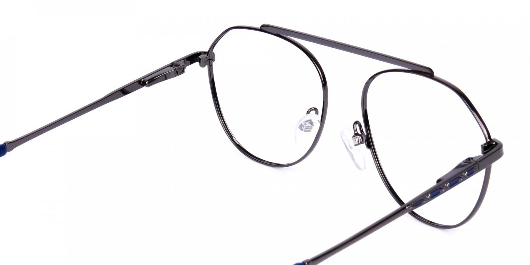 Royal-Blue-Gunmetal-Aviator-Glasses-1