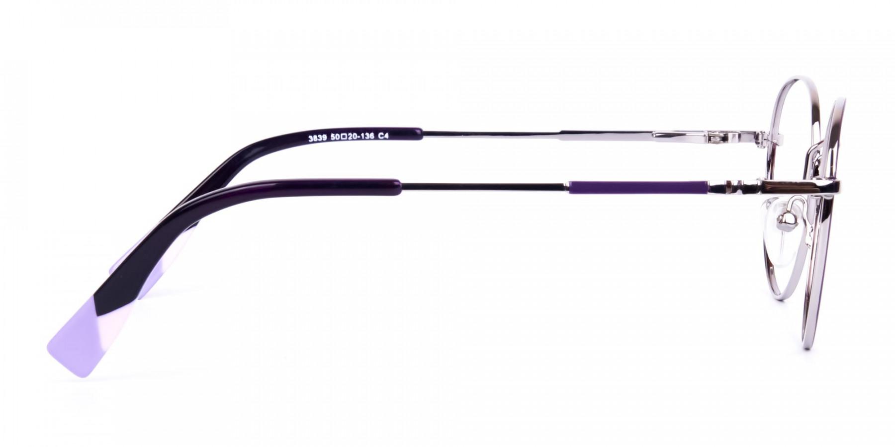 Stylish-Dark-Purple-and-Silver-Round-Glasses-1