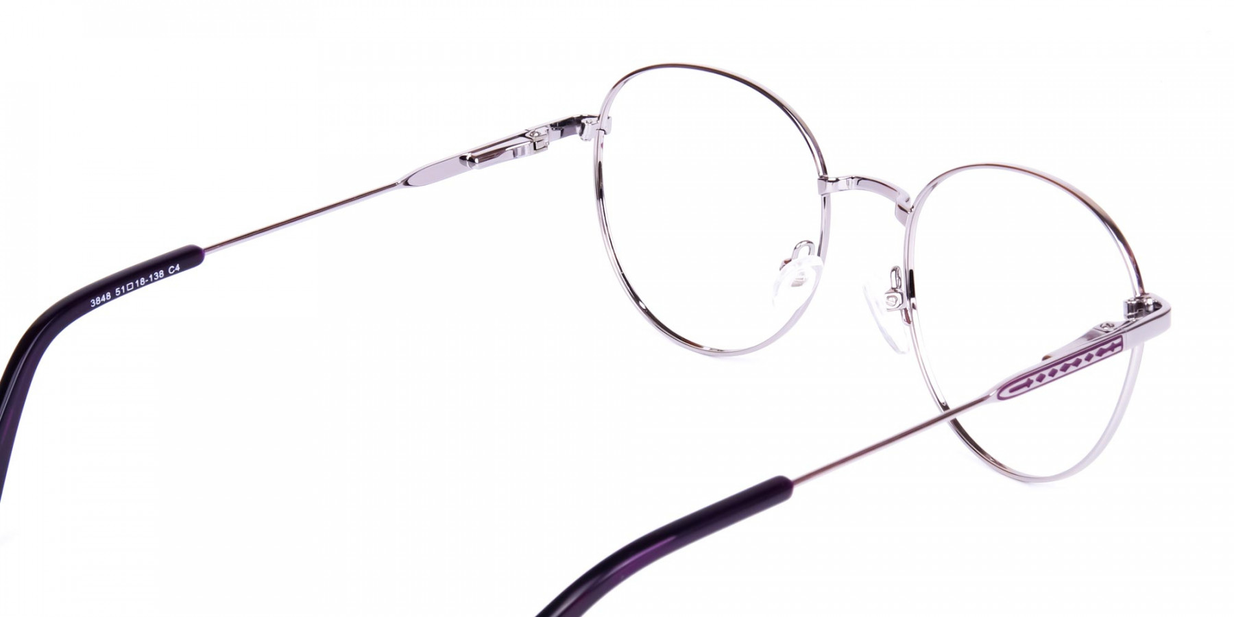 Purple-and-Silver-Metal-Round-Glasses-