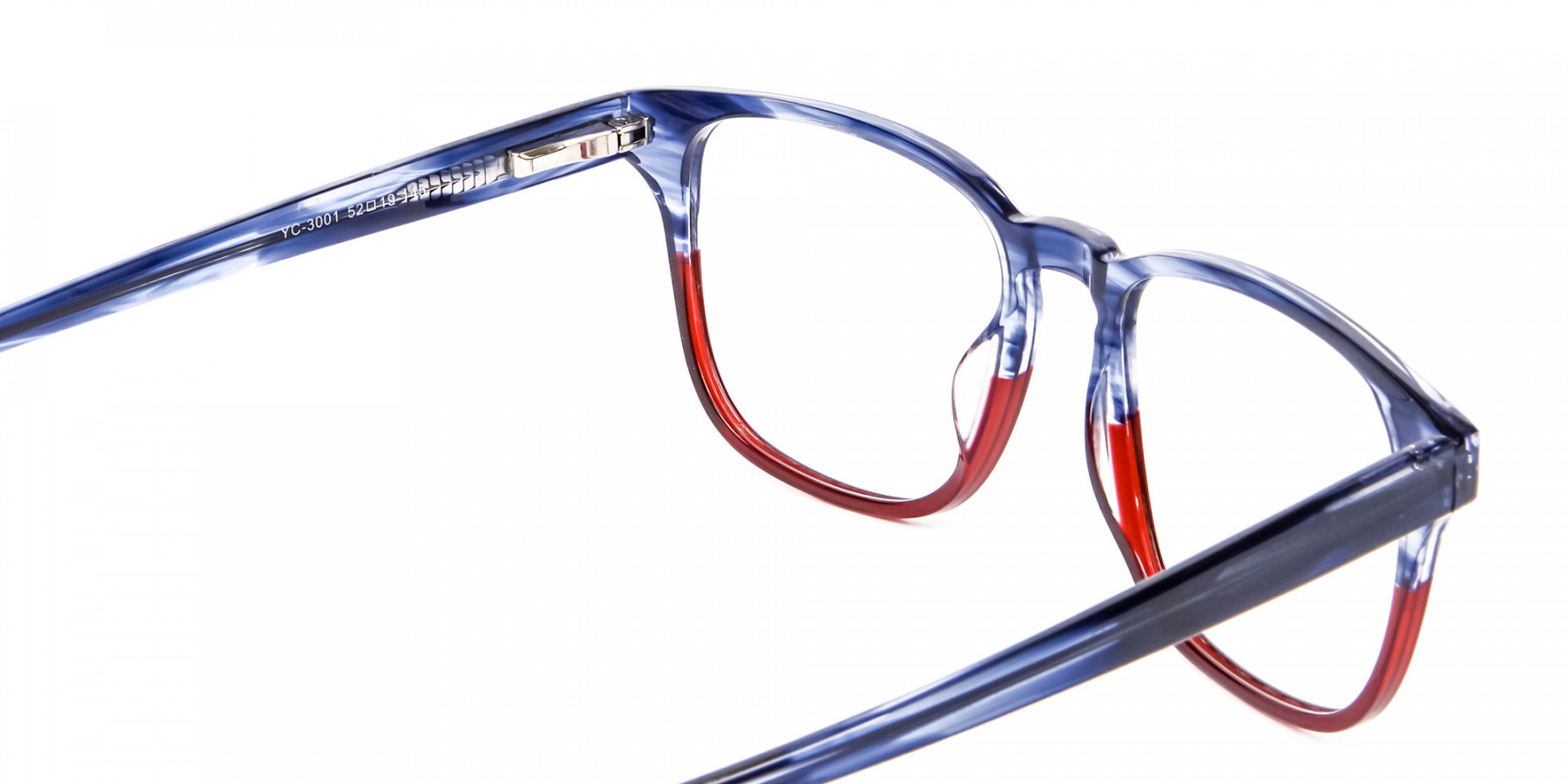 Marble Blue & Red Glasses -1