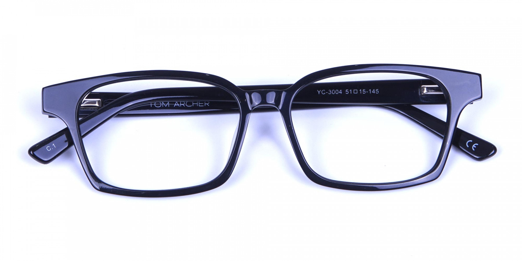 Sleek Black Rectangulars