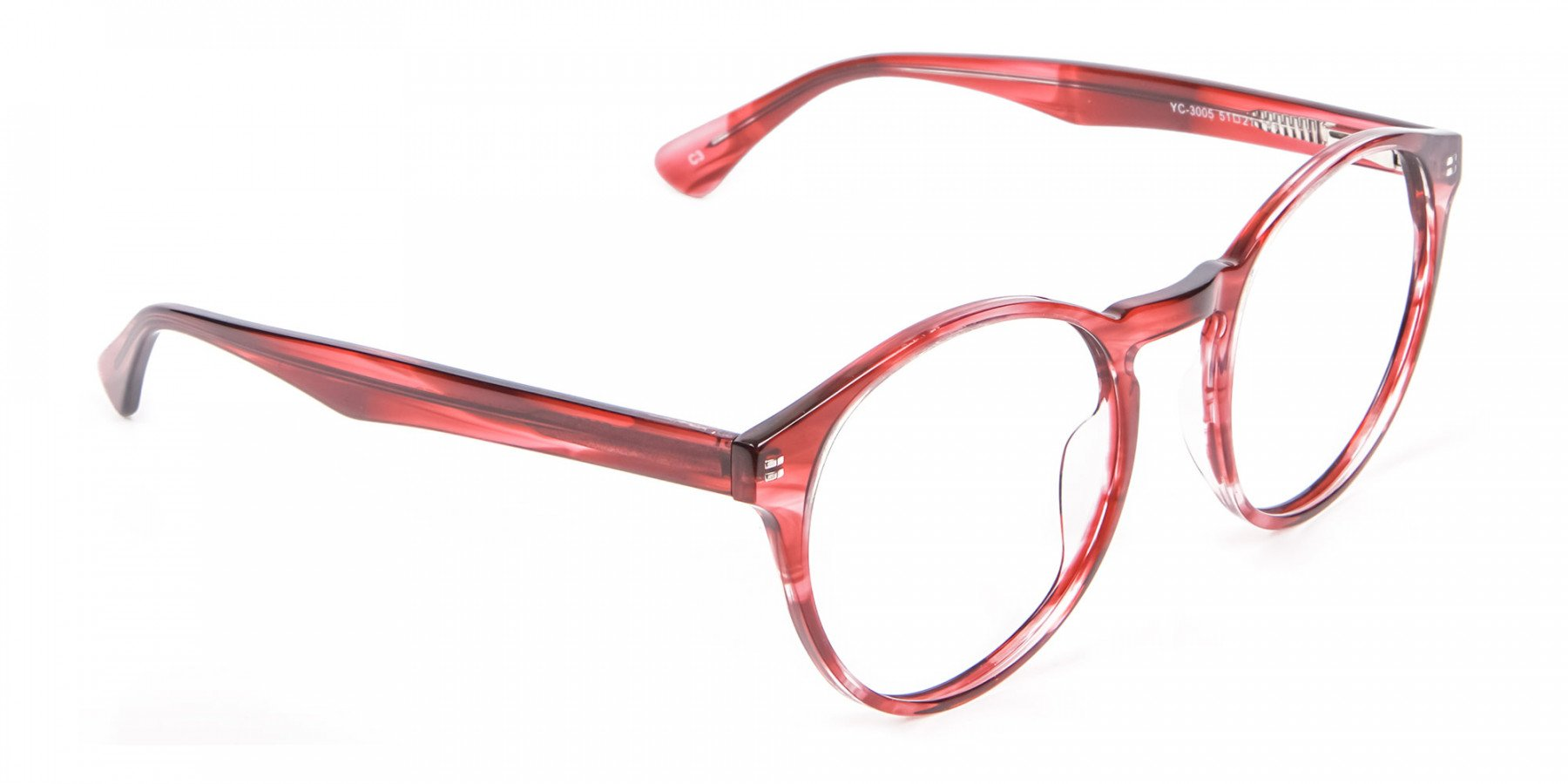 Marble Sunset Red Glasses