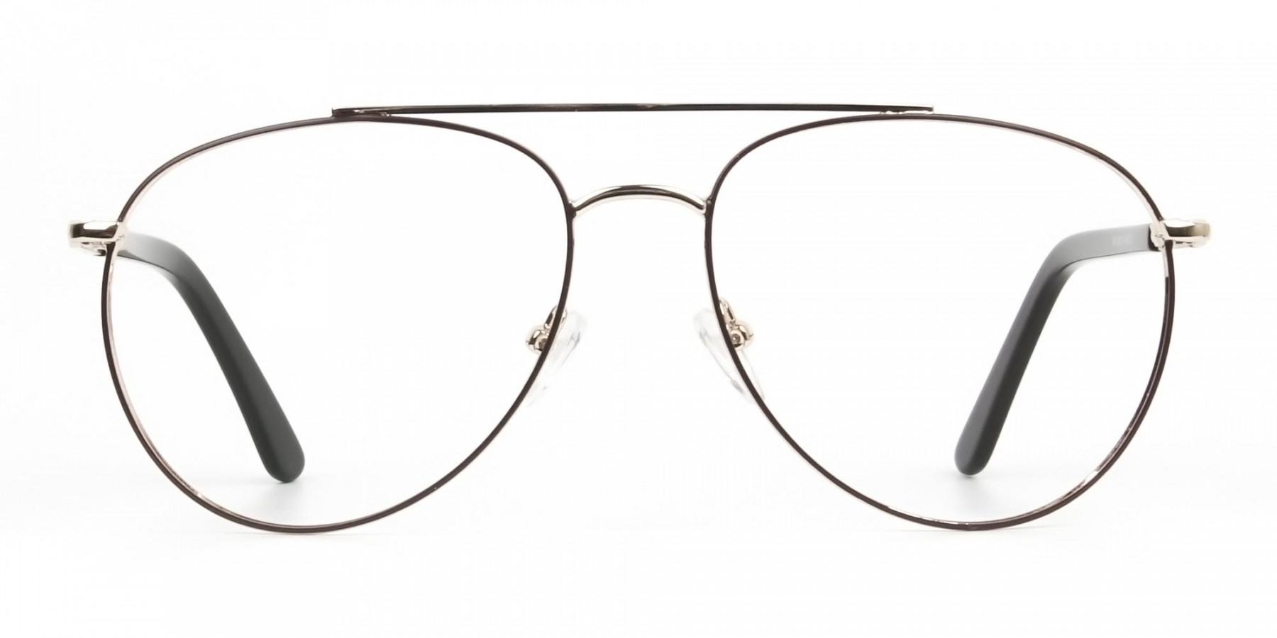 Ultralight Aviator Gold & Brown Glasses - 1