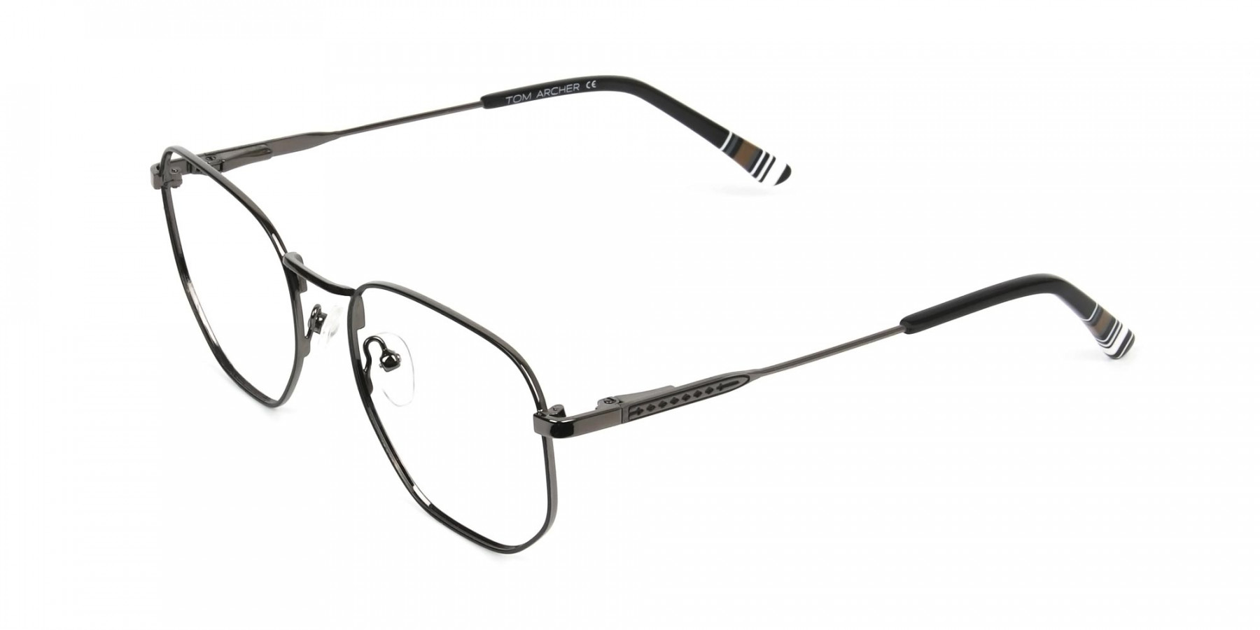 Wayfarer Geometric Gunmetal Black Spectacles - 1