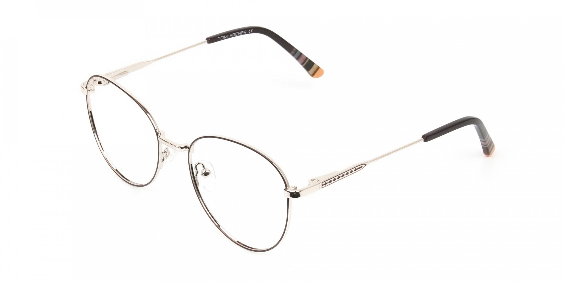 Brown & Gold Weightless Round Glasses - 1