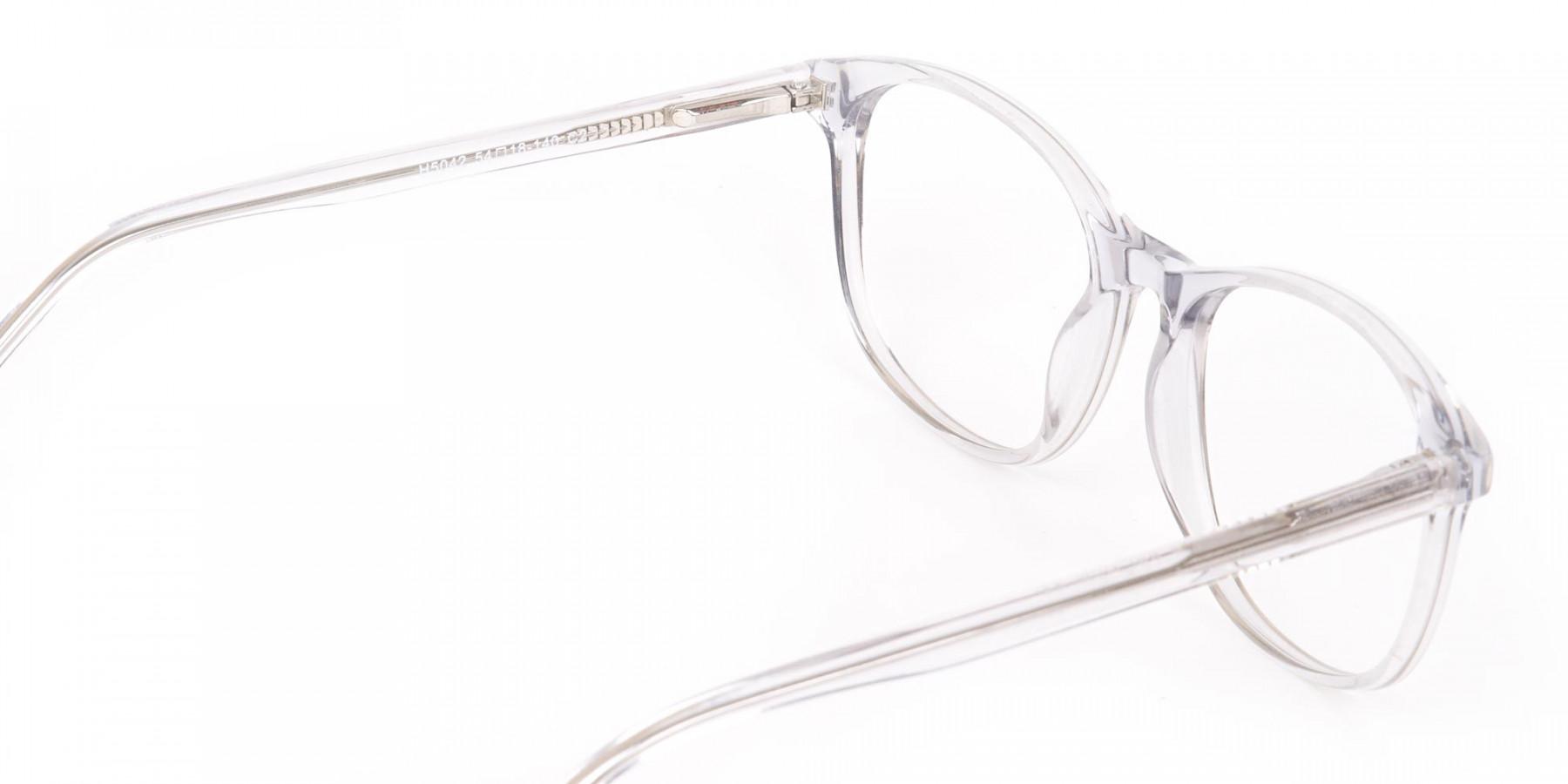 Crystal Clear Transparent Glasses Frame Unisex-1